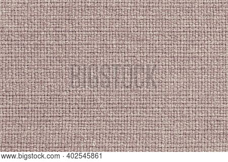 Beige Woolen Cloth With Woven Fabric Texture