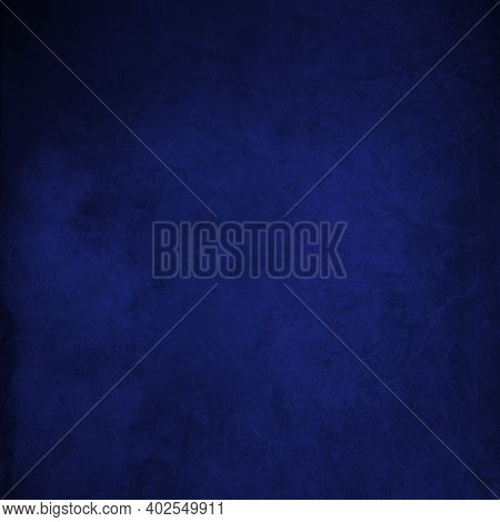 Blank Royal Blue Color Paper Texture Background, Green Paper Surface For Art And Design Background,