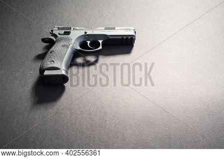 A Loaded Self Defense Full Sized Firearm
