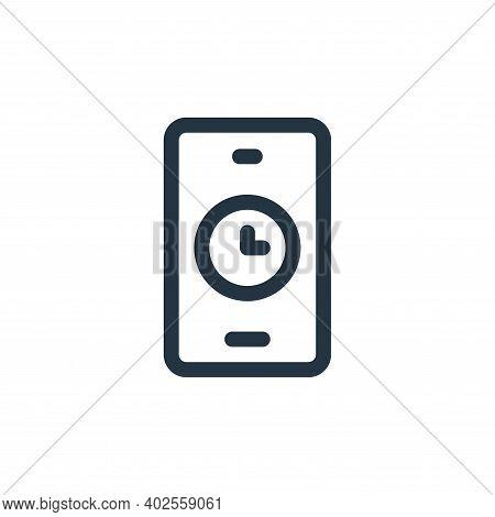 alarm icon isolated on white background. alarm icon thin line outline linear alarm symbol for logo,