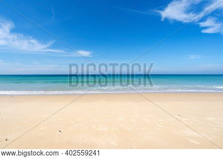 Beach In Summer Season At Karon Beach Phuket On December 7,2020 Concept Travel And Tour,empty Beach