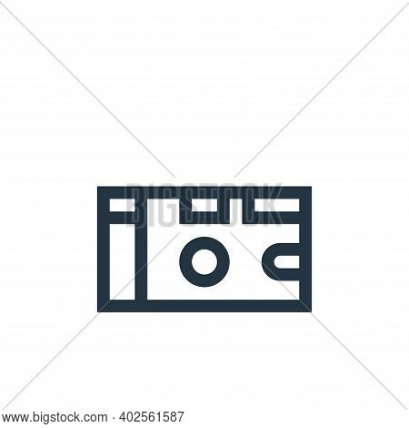 disposable camera icon isolated on white background. disposable camera icon thin line outline linear