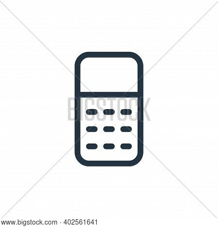calculator icon isolated on white background. calculator icon thin line outline linear calculator sy