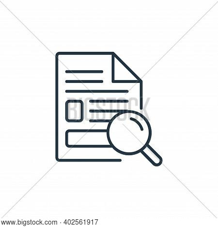 search icon isolated on white background. search icon thin line outline linear search symbol for log