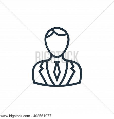 lawyer icon isolated on white background. lawyer icon thin line outline linear lawyer symbol for log