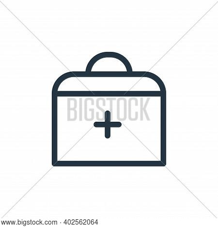 medical kit icon isolated on white background. medical kit icon thin line outline linear medical kit