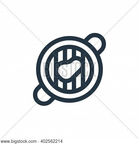 grilled meat icon isolated on white background. grilled meat icon thin line outline linear grilled m
