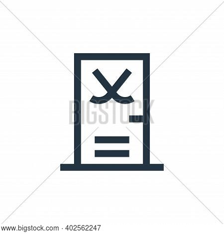gym icon isolated on white background. gym icon thin line outline linear gym symbol for logo, web, a