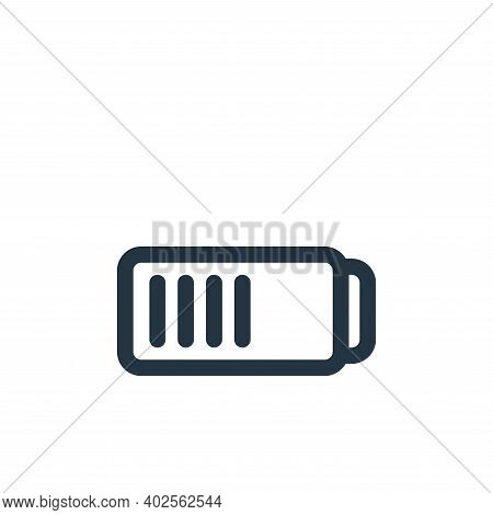 battery icon isolated on white background. battery icon thin line outline linear battery symbol for