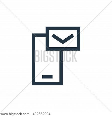 send icon isolated on white background. send icon thin line outline linear send symbol for logo, web