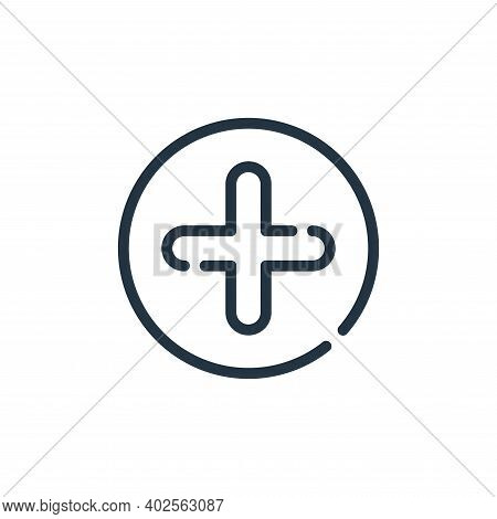 add icon isolated on white background. add icon thin line outline linear add symbol for logo, web, a
