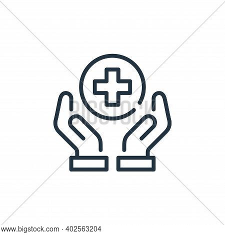 healthcare icon isolated on white background. healthcare icon thin line outline linear healthcare sy