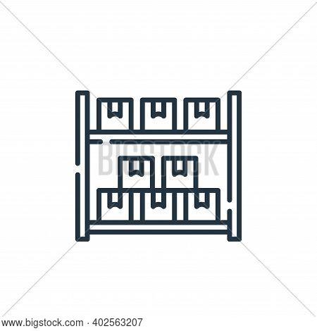 warehouse icon isolated on white background. warehouse icon thin line outline linear warehouse symbo