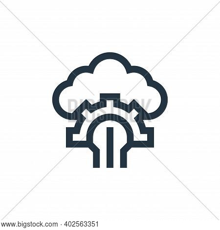 cloud computing icon isolated on white background. cloud computing icon thin line outline linear clo