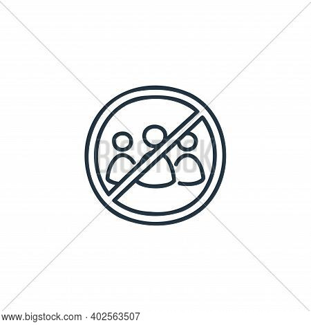 no group icon isolated on white background. no group icon thin line outline linear no group symbol f