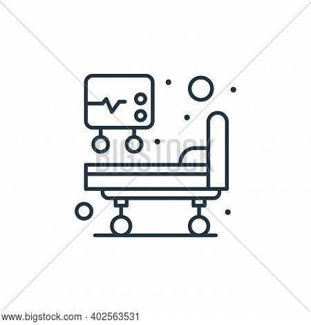 hospital bed icon isolated on white background. hospital bed icon thin line outline linear hospital