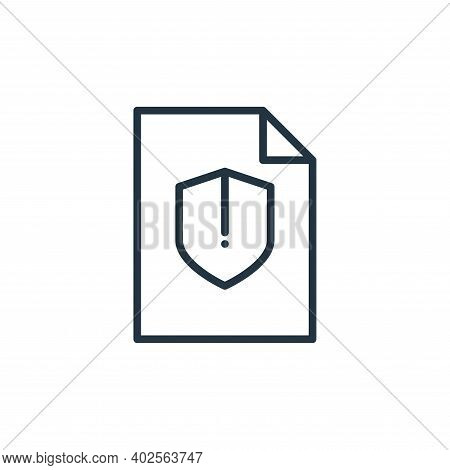 protection icon isolated on white background. protection icon thin line outline linear protection sy