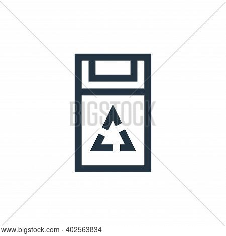trash can icon isolated on white background. trash can icon thin line outline linear trash can symbo