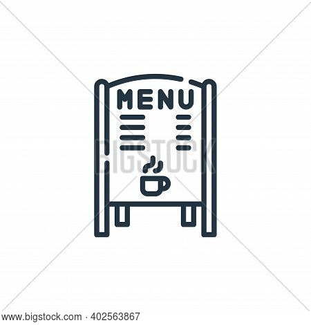 daily specials board icon isolated on white background. daily specials board icon thin line outline