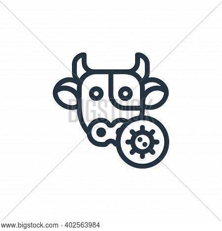 cow icon isolated on white background. cow icon thin line outline linear cow symbol for logo, web, a