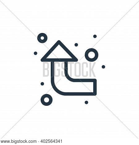 arrow upward icon isolated on white background. arrow upward icon thin line outline linear arrow upw