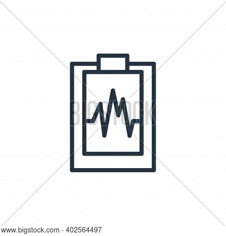 heartbeat icon isolated on white background. heartbeat icon thin line outline linear heartbeat symbo