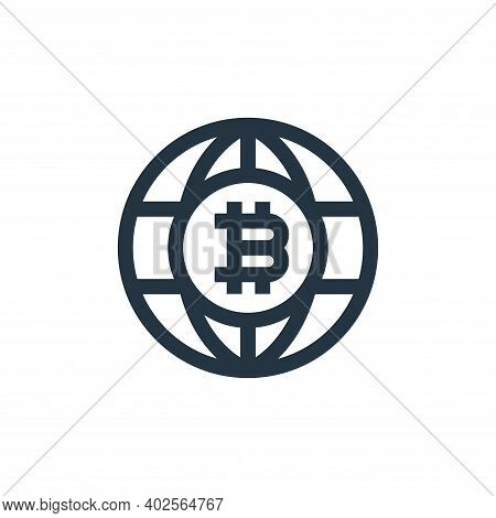 world icon isolated on white background. world icon thin line outline linear world symbol for logo,