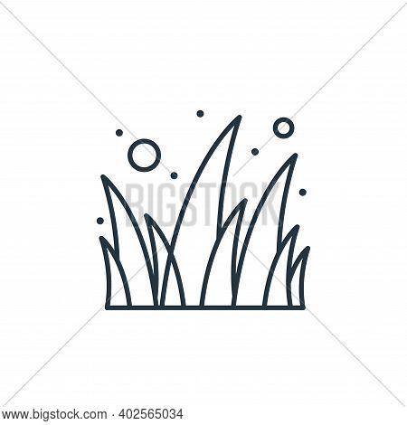 grass leaves icon isolated on white background. grass leaves icon thin line outline linear grass lea