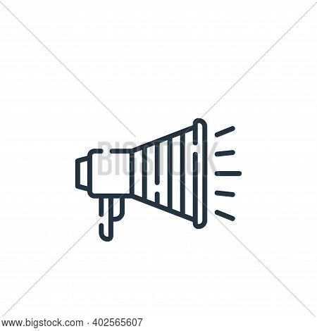 megaphone icon isolated on white background. megaphone icon thin line outline linear megaphone symbo