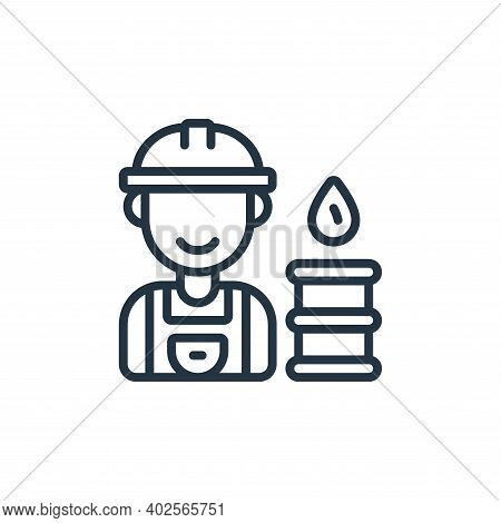 worker icon isolated on white background. worker icon thin line outline linear worker symbol for log