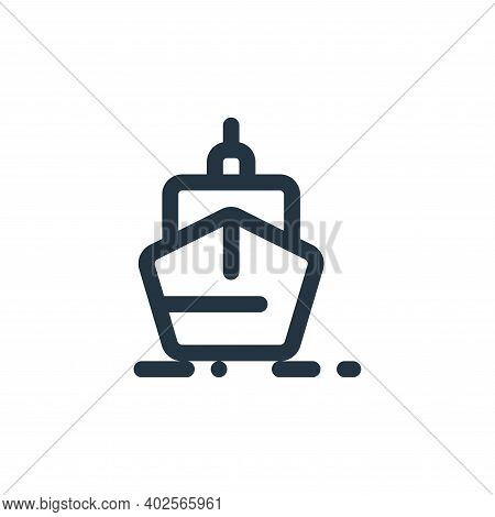 ship icon isolated on white background. ship icon thin line outline linear ship symbol for logo, web
