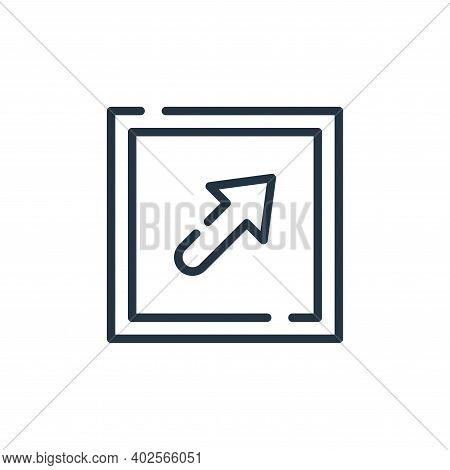 top right icon isolated on white background. top right icon thin line outline linear top right symbo