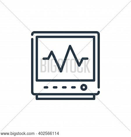 cardiogram icon isolated on white background. cardiogram icon thin line outline linear cardiogram sy