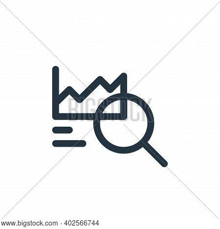 statistics icon isolated on white background. statistics icon thin line outline linear statistics sy