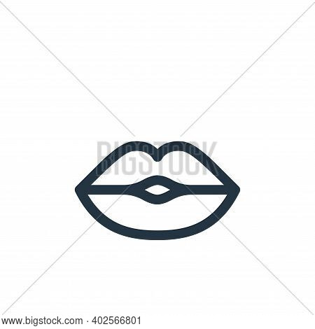 kiss icon isolated on white background. kiss icon thin line outline linear kiss symbol for logo, web