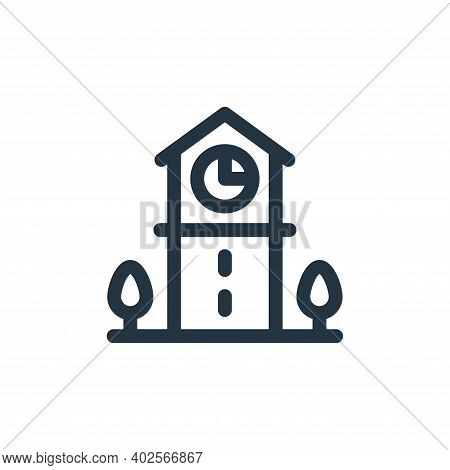 clock tower icon isolated on white background. clock tower icon thin line outline linear clock tower