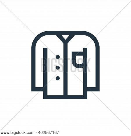 shirt icon isolated on white background. shirt icon thin line outline linear shirt symbol for logo,