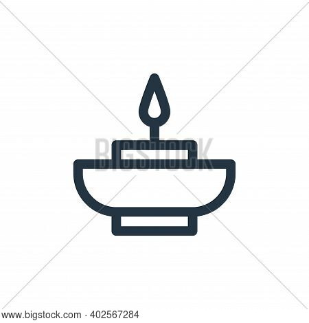 aromatic candle icon isolated on white background. aromatic candle icon thin line outline linear aro