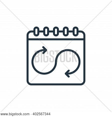 work schedule icon isolated on white background. work schedule icon thin line outline linear work sc