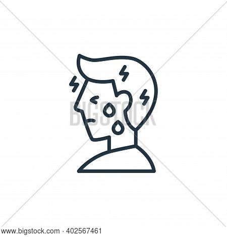 headache icon isolated on white background. headache icon thin line outline linear headache symbol f