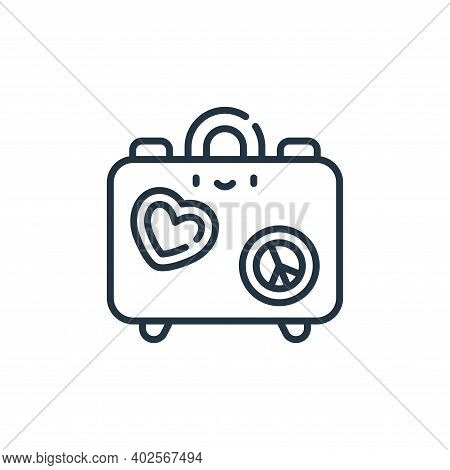 hippies icon isolated on white background. hippies icon thin line outline linear hippies symbol for