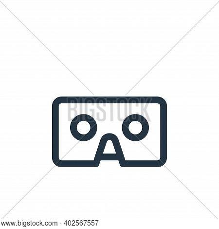 cardboard icon isolated on white background. cardboard icon thin line outline linear cardboard symbo