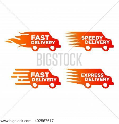 Vector Illustration Of Express Delivery Icon. Suitable For The Design Elements Of Fast Delivery Comp