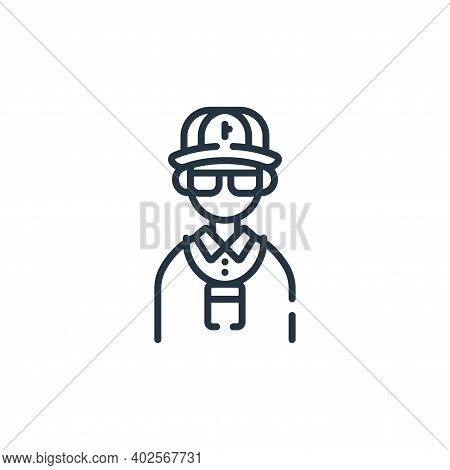 Security guard icon isolated on white background. Security guard icon thin line outline linear Secur