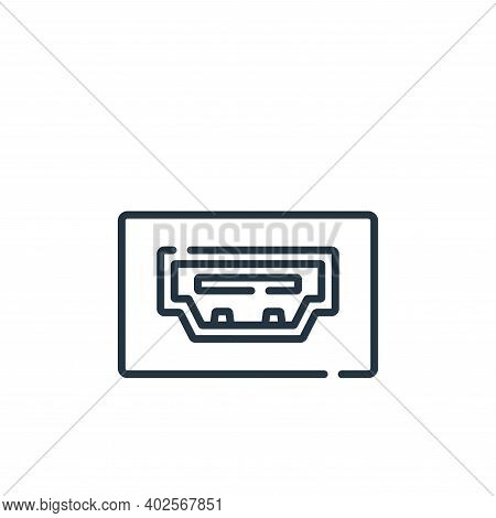 hdmi port icon isolated on white background. hdmi port icon thin line outline linear hdmi port symbo
