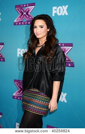LOS ANGELES - DEC 17:  Demi Lovato at the 'X Factor' Season Finale Press Conference at CBS Television City on December 17, 2012 in Los Angeles, CA