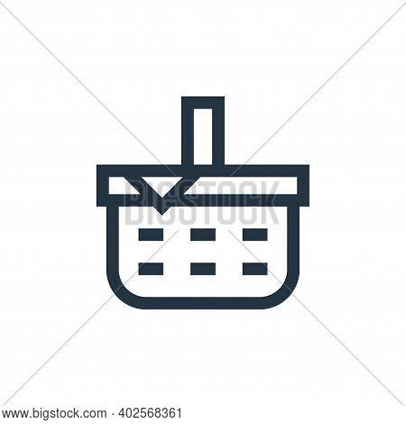 picnic basket icon isolated on white background. picnic basket icon thin line outline linear picnic