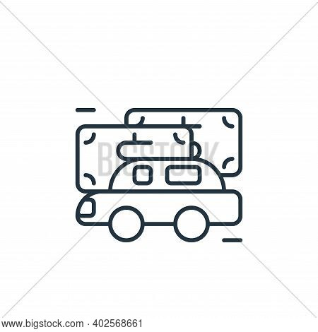 automobile icon isolated on white background. automobile icon thin line outline linear automobile sy
