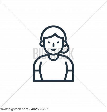 elderly icon isolated on white background. elderly icon thin line outline linear elderly symbol for