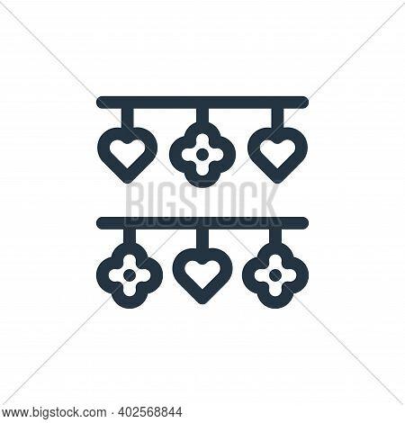 decoration icon isolated on white background. decoration icon thin line outline linear decoration sy